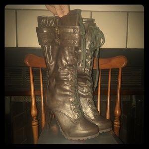 Brown calf high  boots